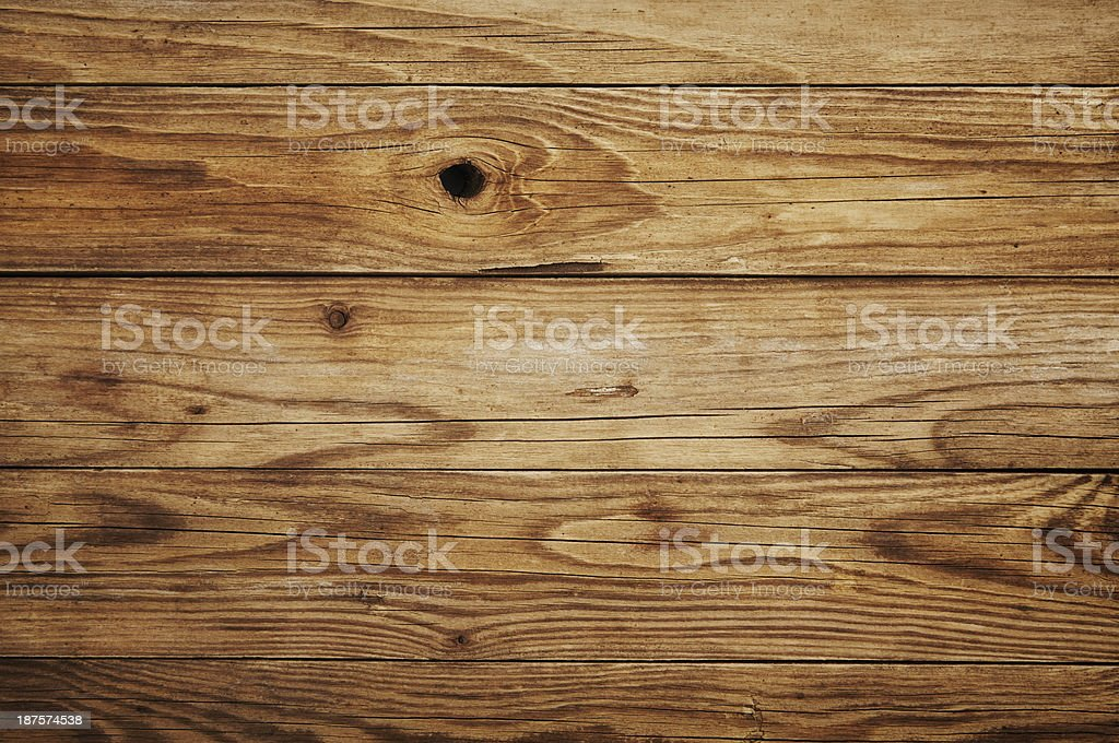 Close-up view of a wooden background with cracks and pits stock photo
