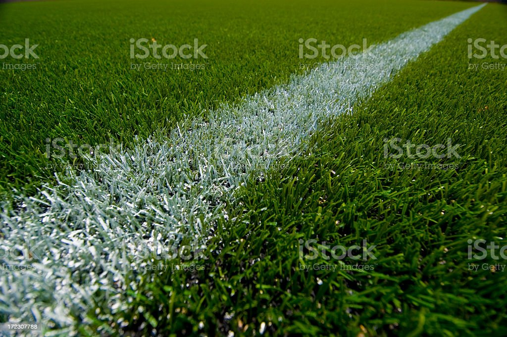 Closeup view of an athletic field royalty-free stock photo