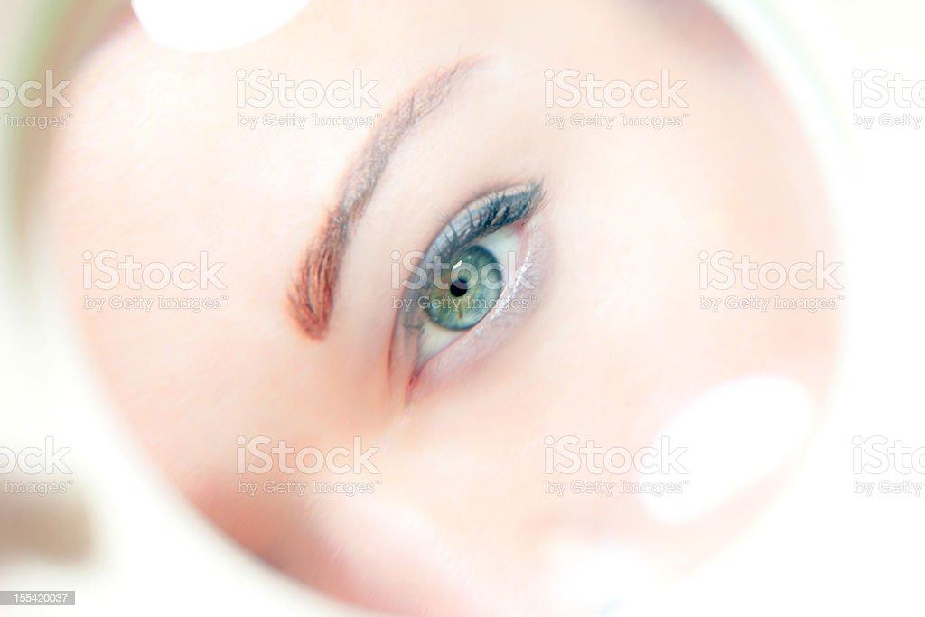 Closeup view of an eye royalty-free stock photo