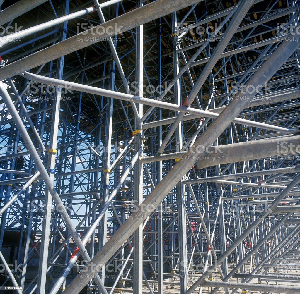 Close-up view of an industrial construction site royalty-free stock photo