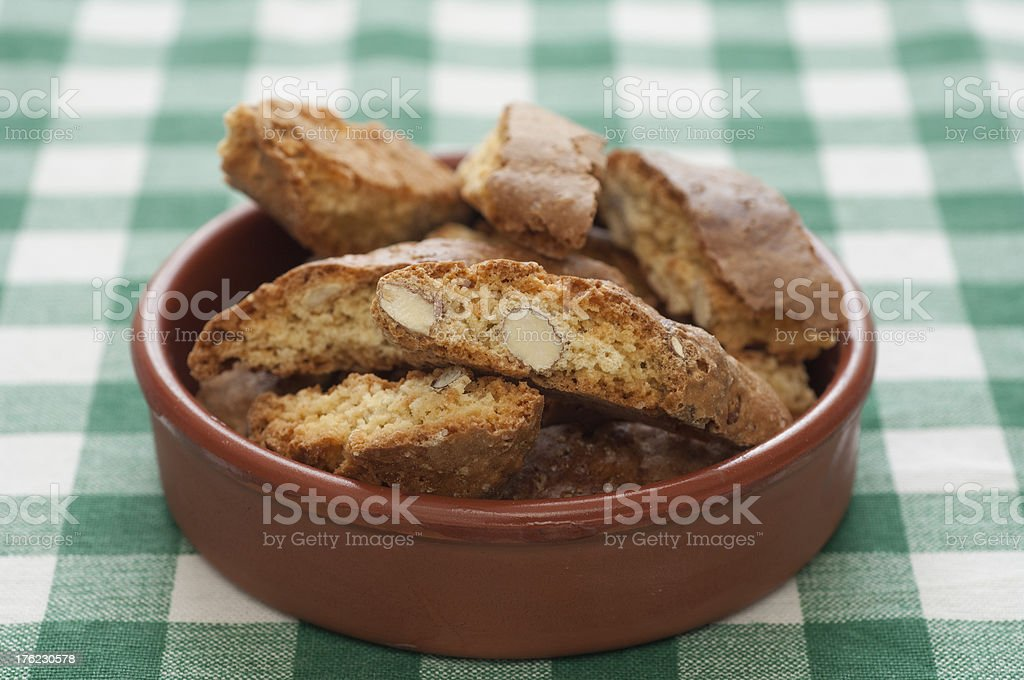 Close-up view of Cantucci royalty-free stock photo