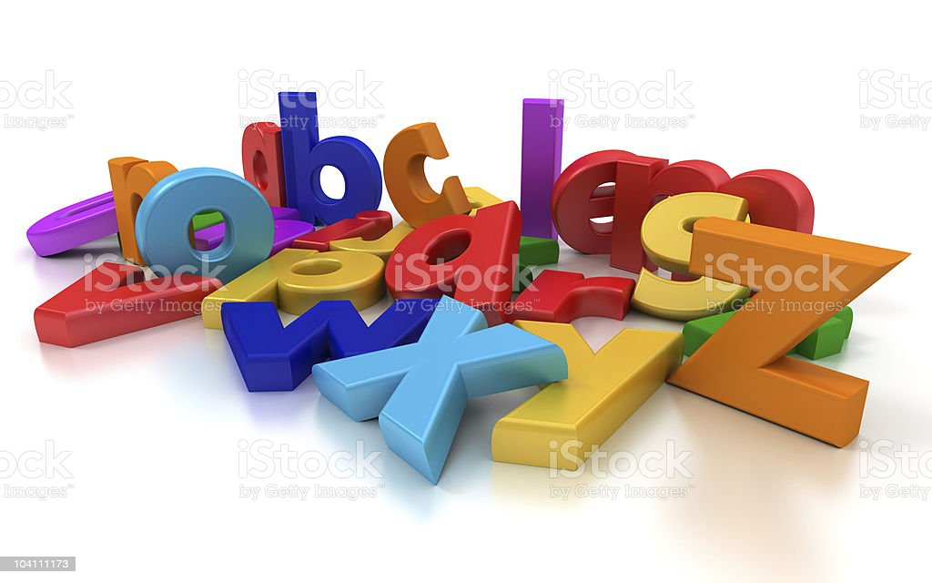 Close-up view of coloful letters royalty-free stock photo