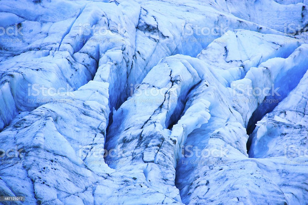 Close-up view of Fox glacier. stock photo