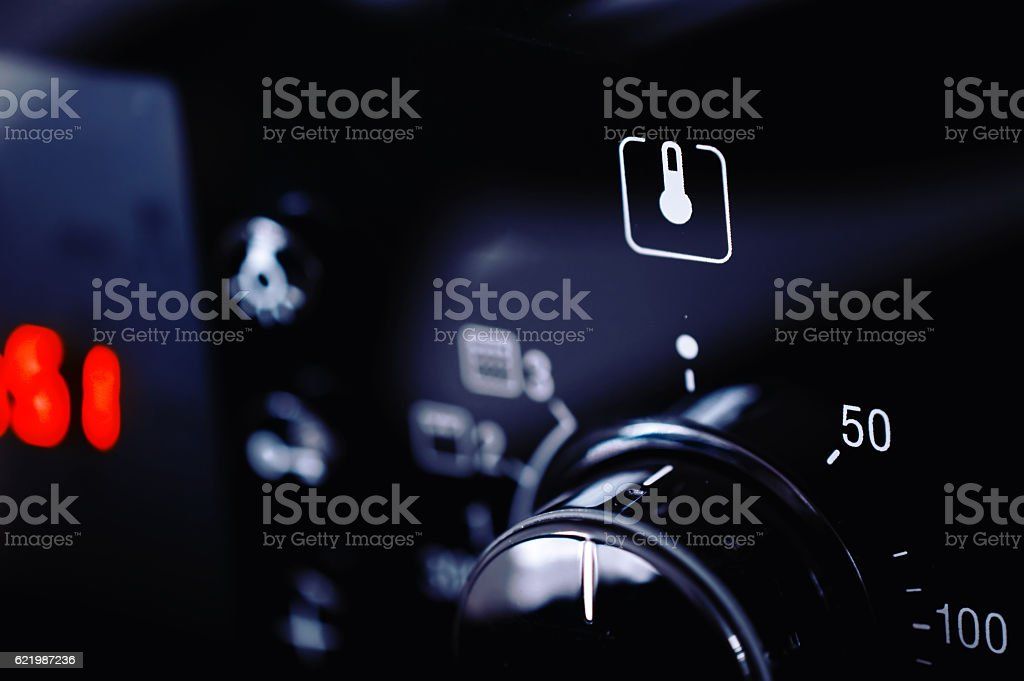 Closeup view of modern oven stock photo