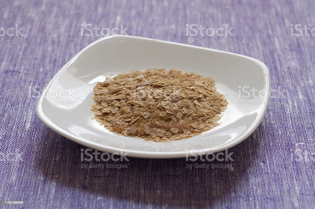 Close-up view of nutritional yeast stock photo