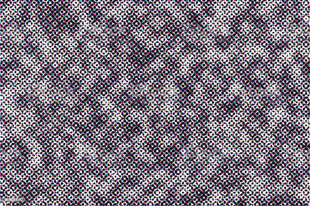 Closeup view of offset print halftone pattern stock photo