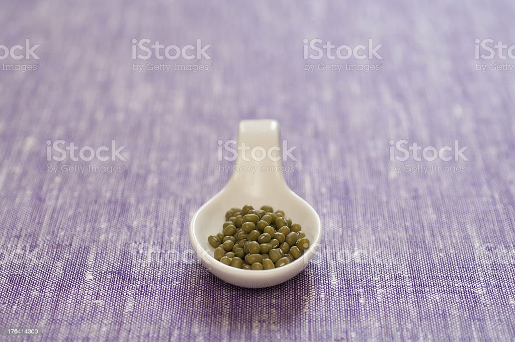 Close-up view of organic Green Mung Beans royalty-free stock photo