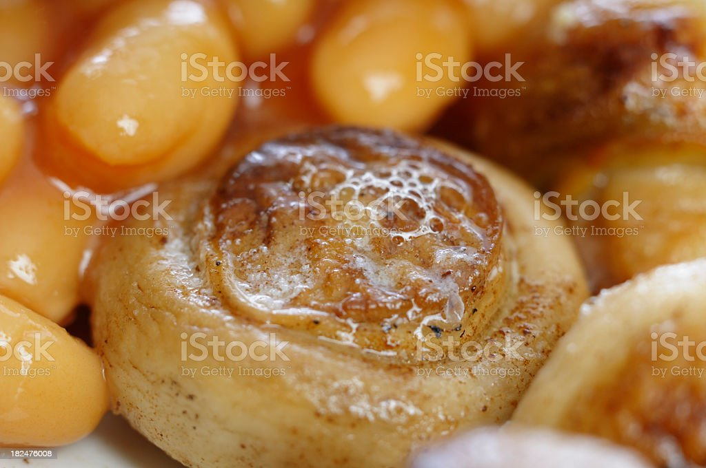 Close-up View Of Part English Breakfast royalty-free stock photo