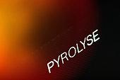 Closeup view of pyrolysis oven
