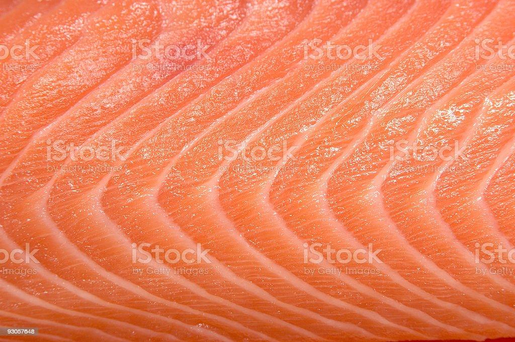 Closeup view of raw salmon fish royalty-free stock photo