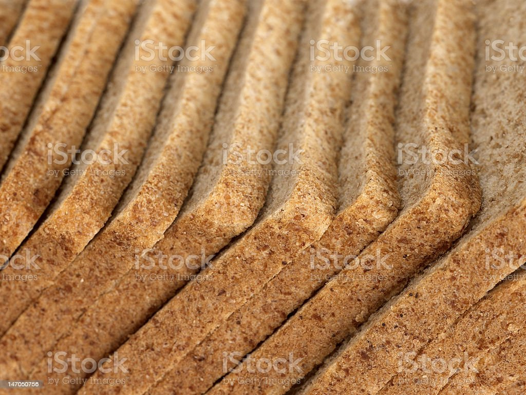 Close-up view of sliced brown bread royalty-free stock photo
