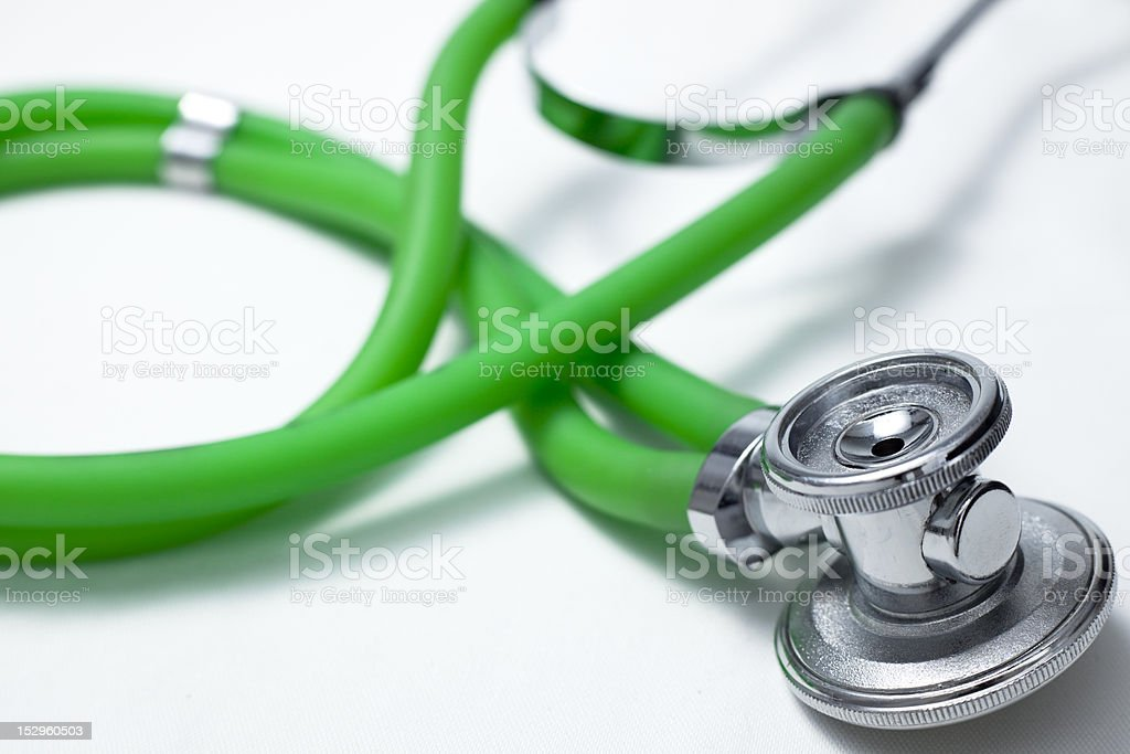 Close-up view of stethoscope. royalty-free stock photo