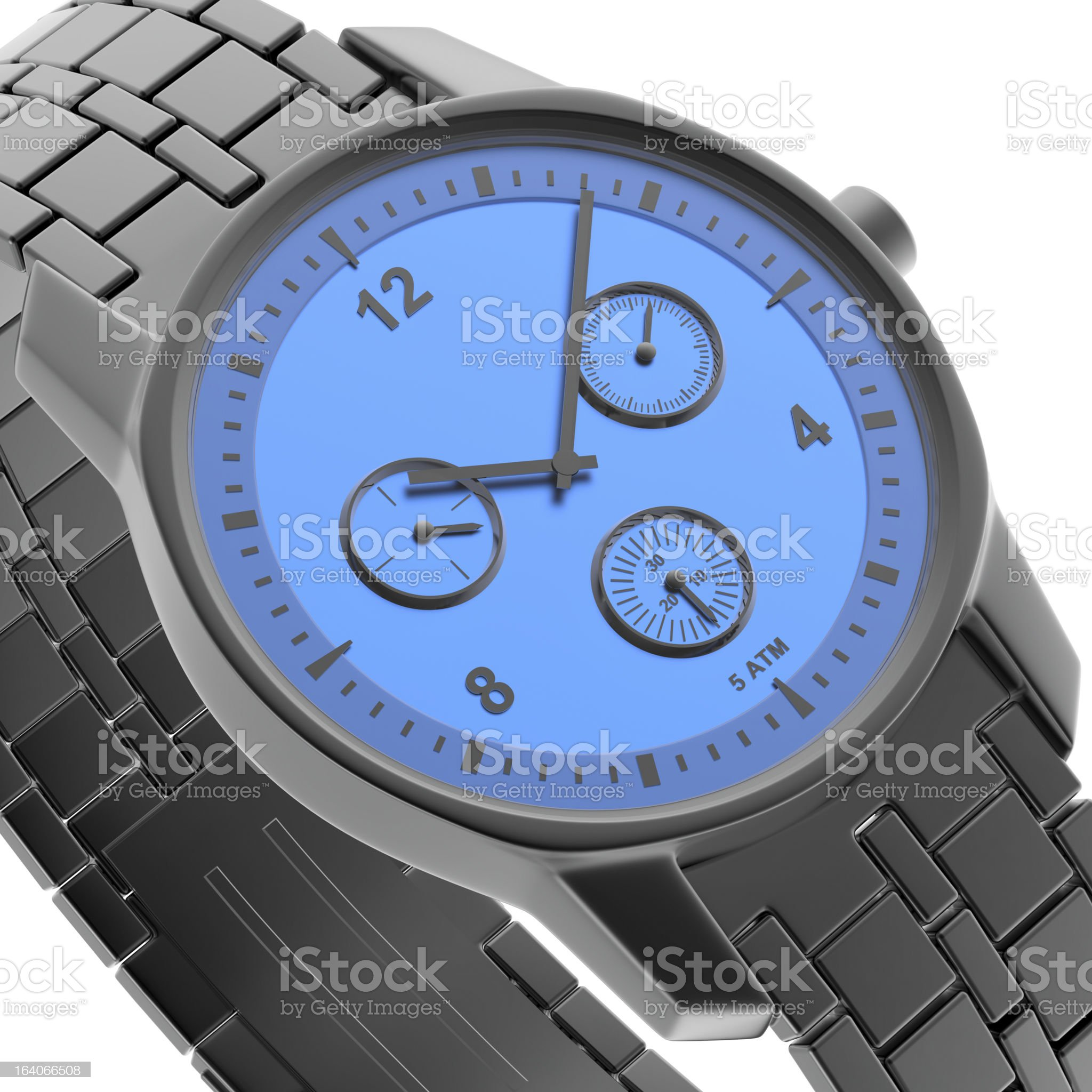 Close-up view of watch royalty-free stock photo