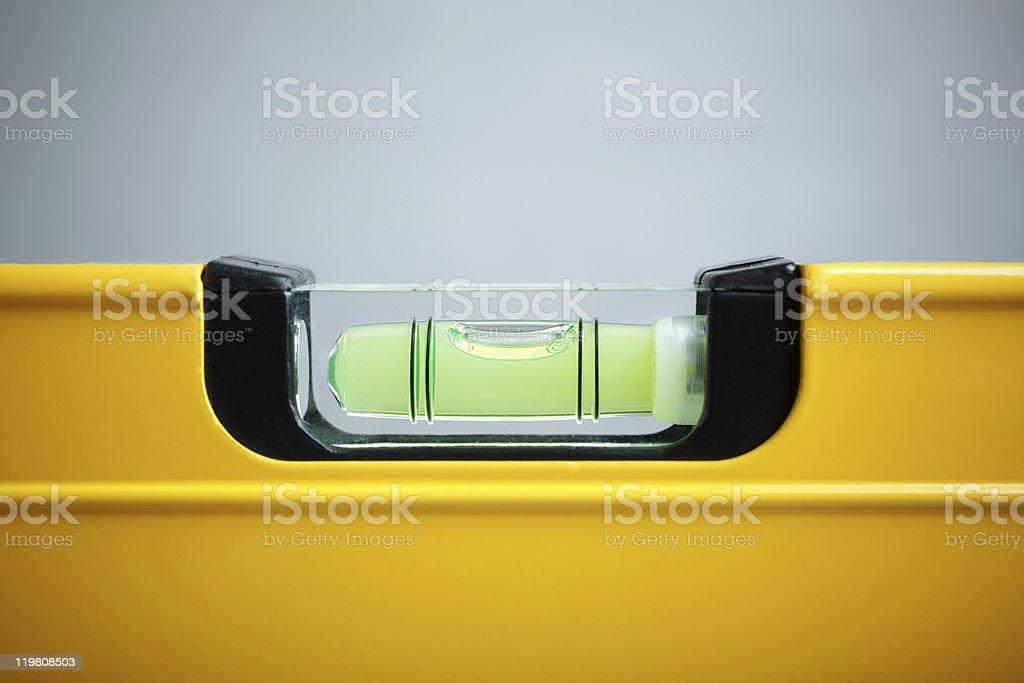 Closeup view of yellow balance stock photo