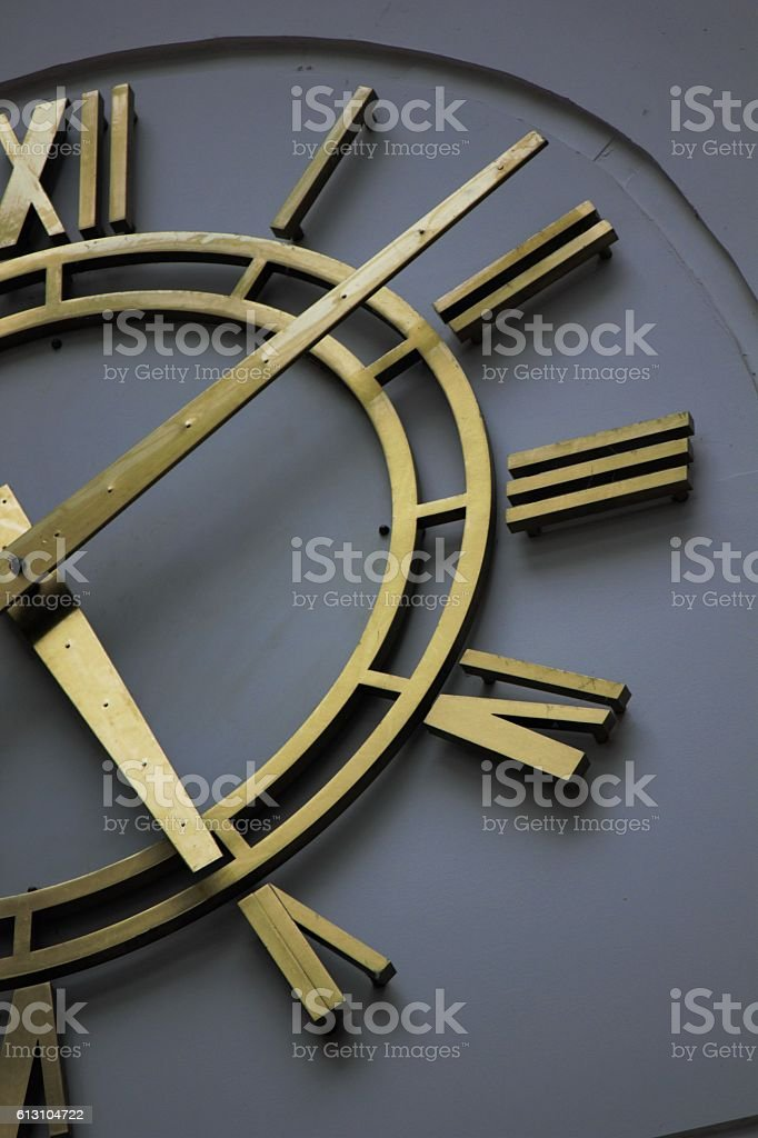 closeup vintage clock selective focus stock photo