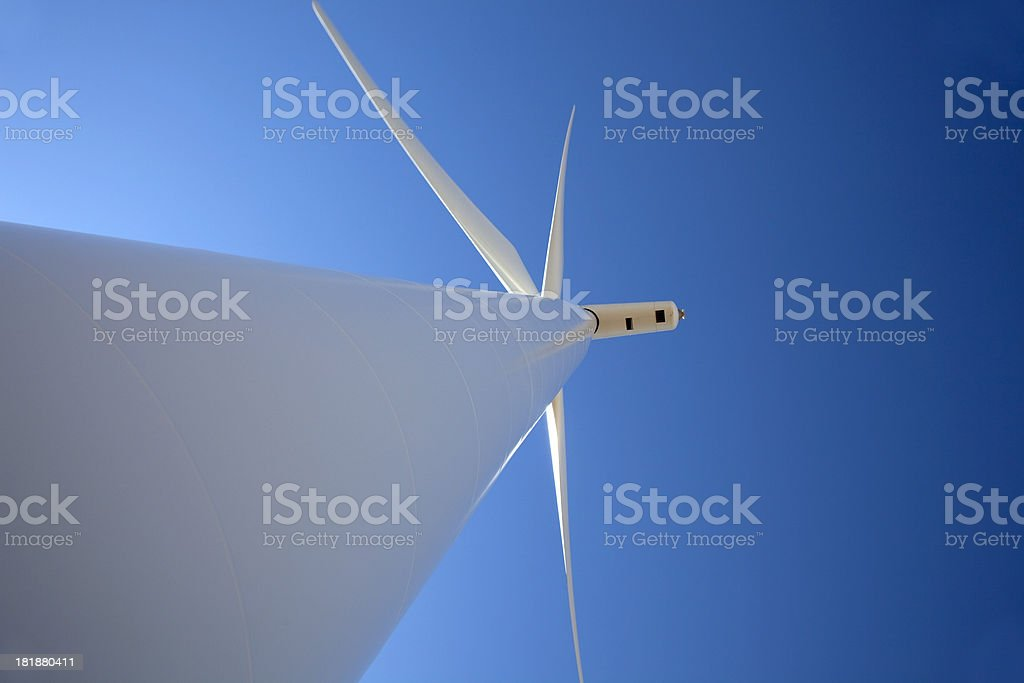 Close-up wind turbine in northeastern Colorado royalty-free stock photo