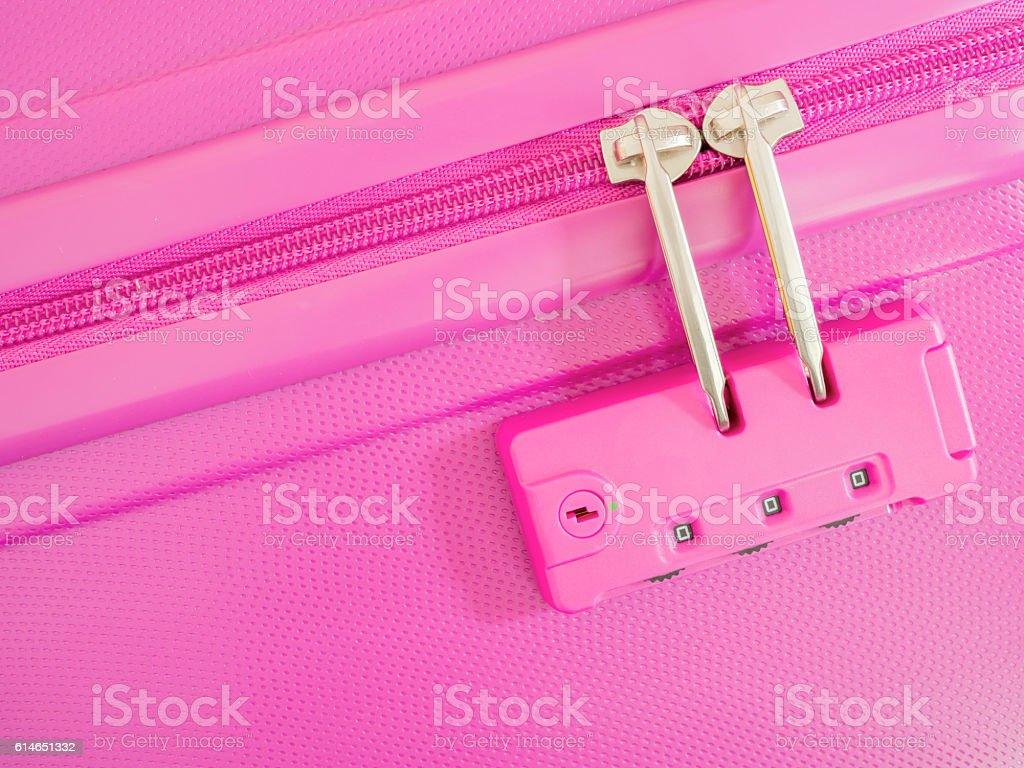 Closeup zipper lock password 2 stock photo