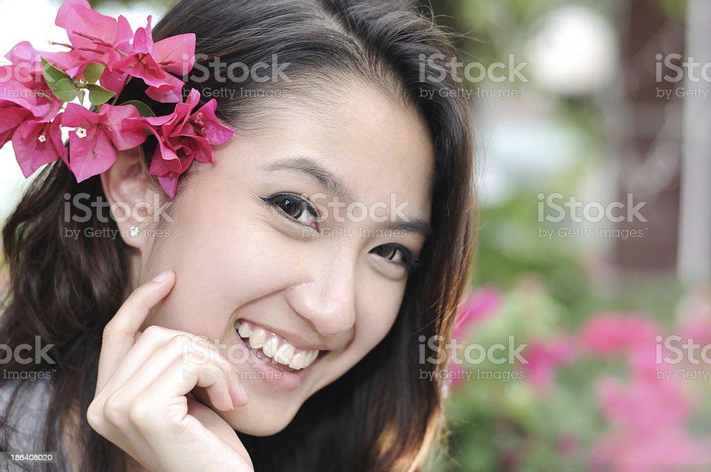 Close-ups Beautiful Young Asian Woman,Portrait. stock photo