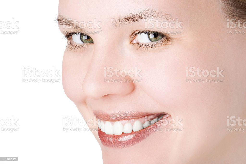 close-ups joyful face girl royalty-free stock photo