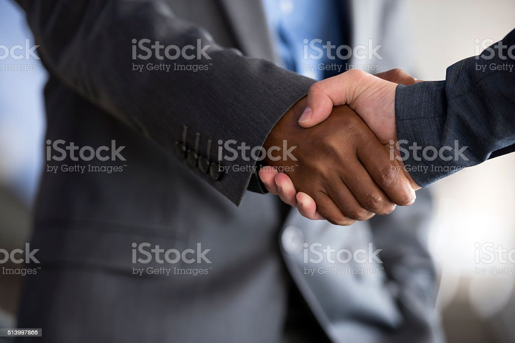 Closing a deal. stock photo
