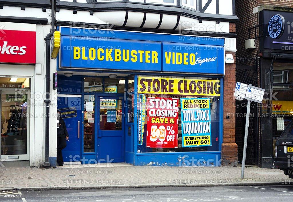 Closing down- Blockbuster Video stock photo