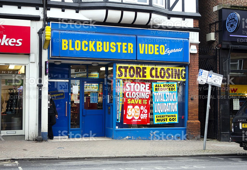 Closing down- Blockbuster Video stock photo