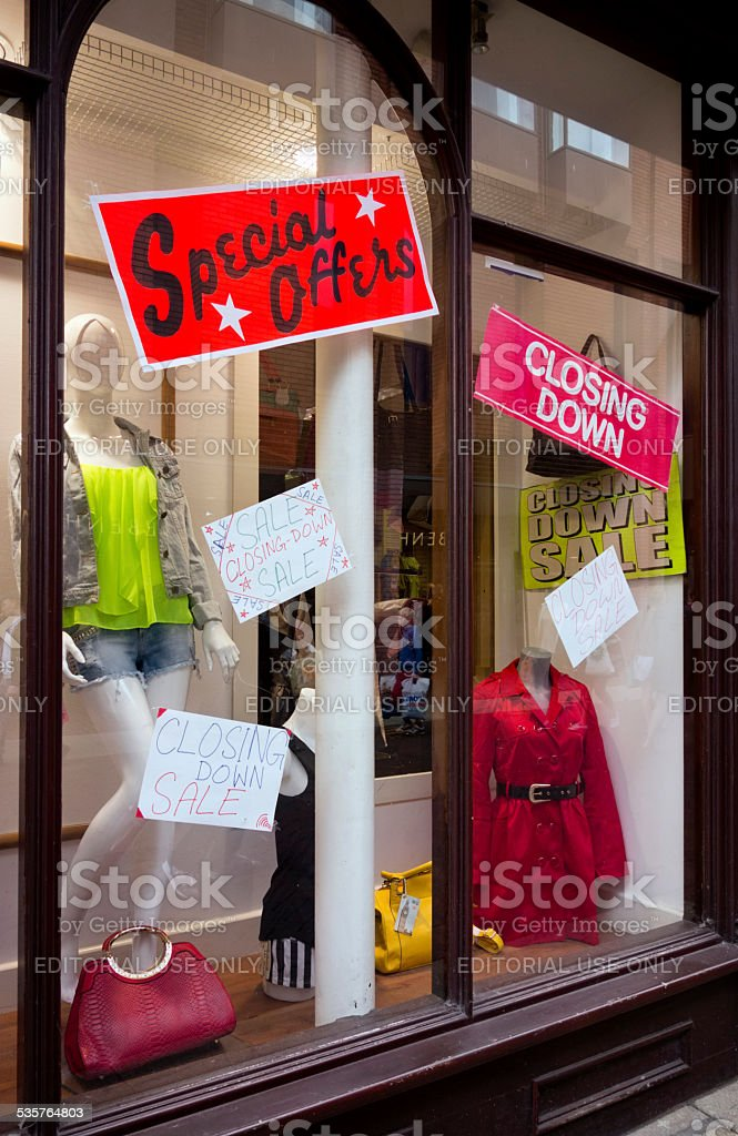 Closing Down Sale stock photo