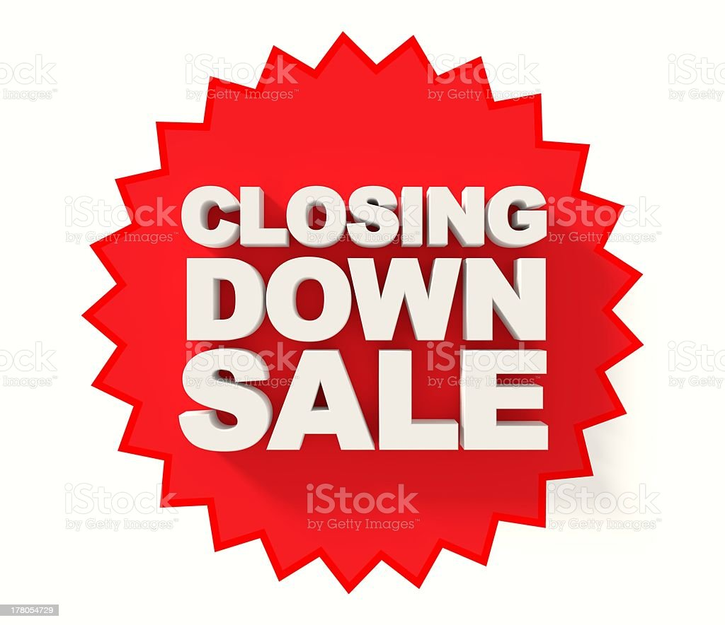 Closing down sale sign royalty-free stock photo
