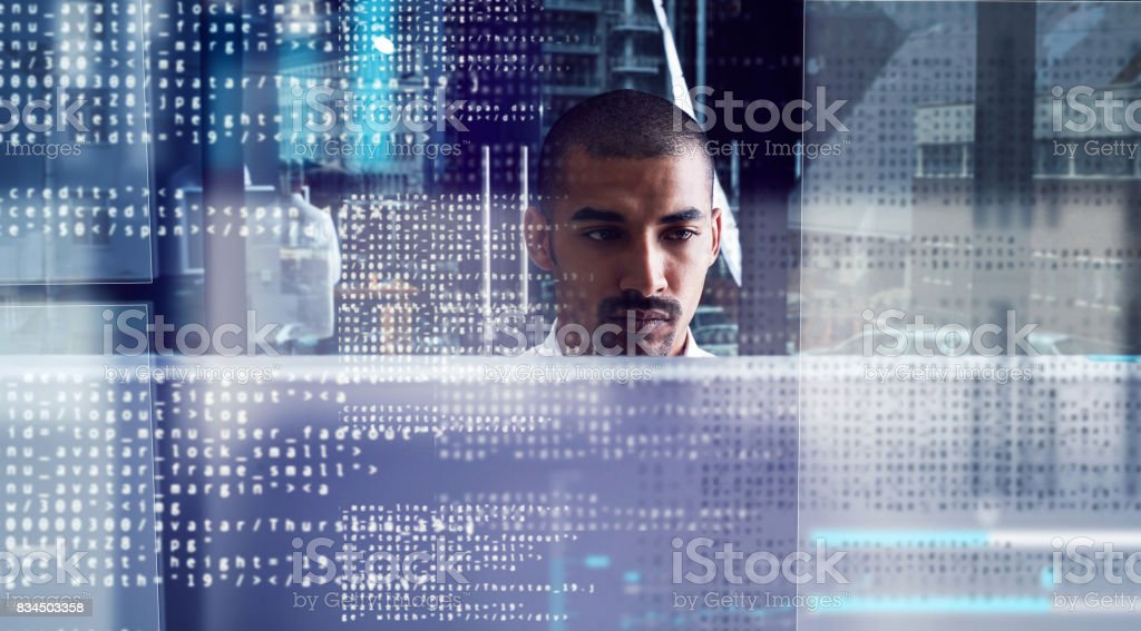 Closing in on the code stock photo