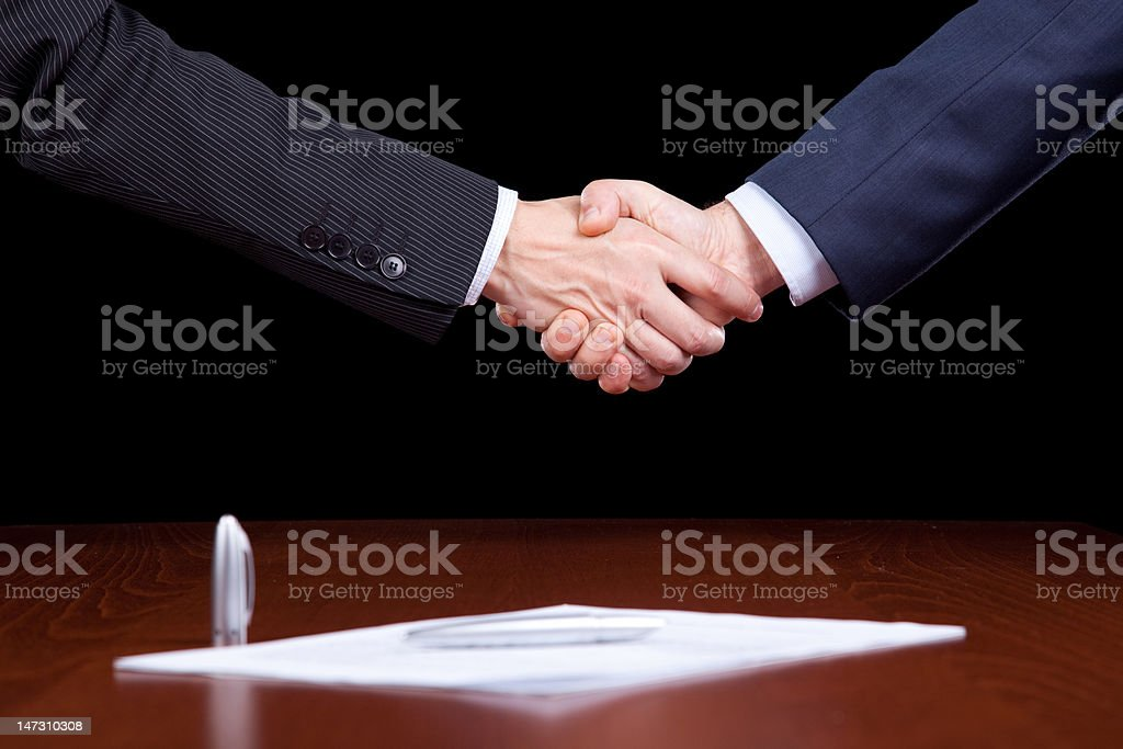 Closing the contract royalty-free stock photo