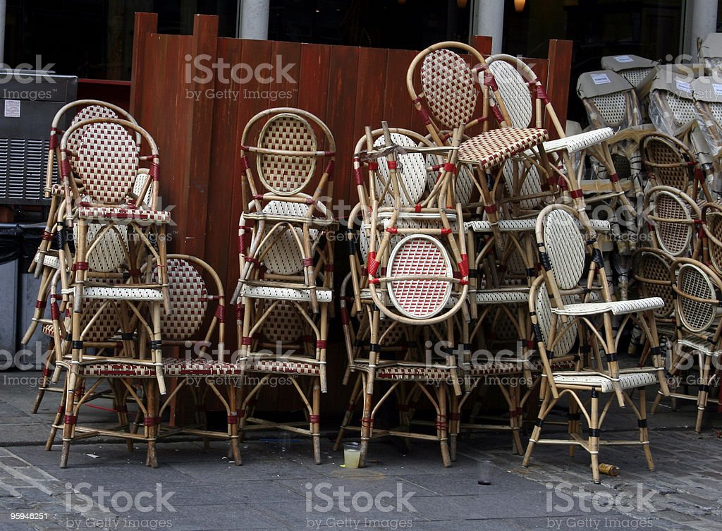 Closing Time at the Restaurant royalty-free stock photo