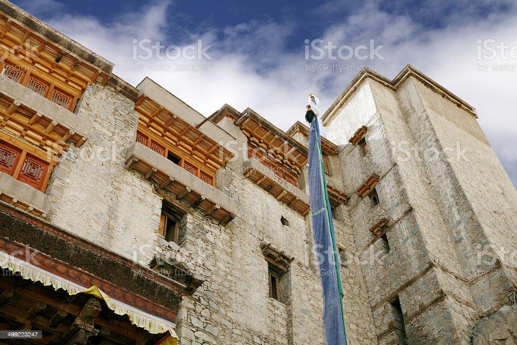 Closure look at Leh Palace stock photo
