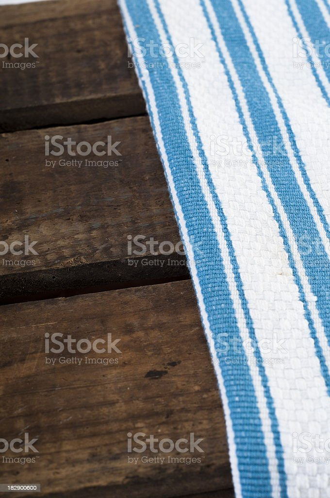 Cloth and wood royalty-free stock photo