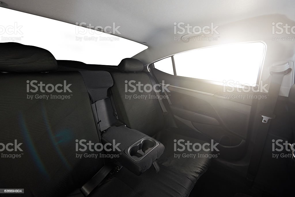 Cloth back black seat stock photo