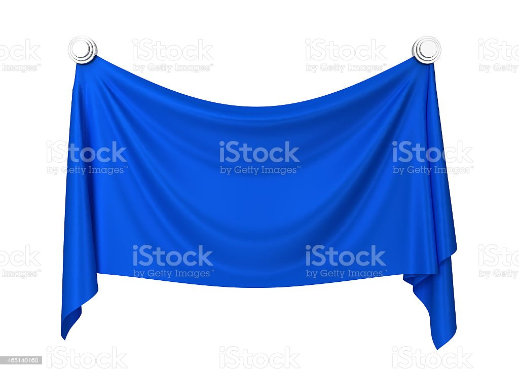 Cloth banner stock photo