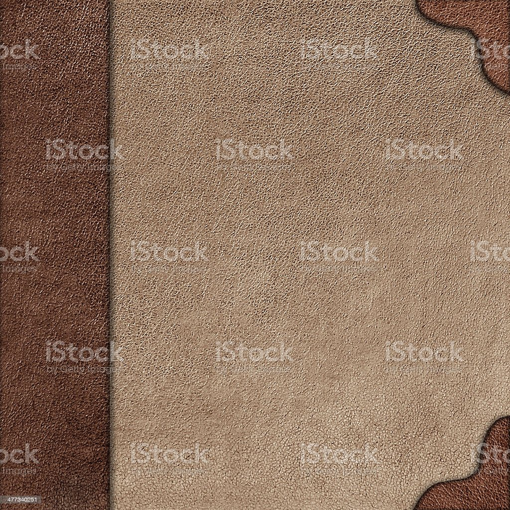 Cloth cover album with leather  rootlet stock photo