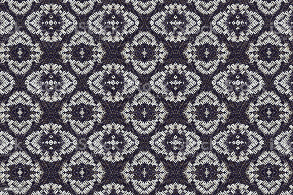 Cloth embroidered motifs close stock photo