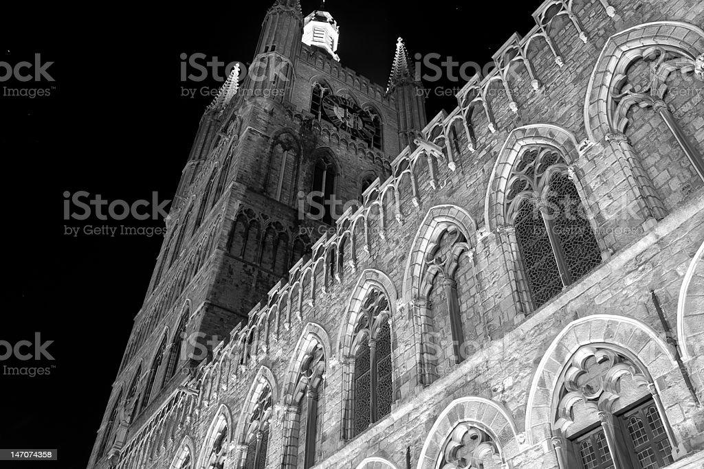 Cloth Hall of Ypres, Belgium stock photo