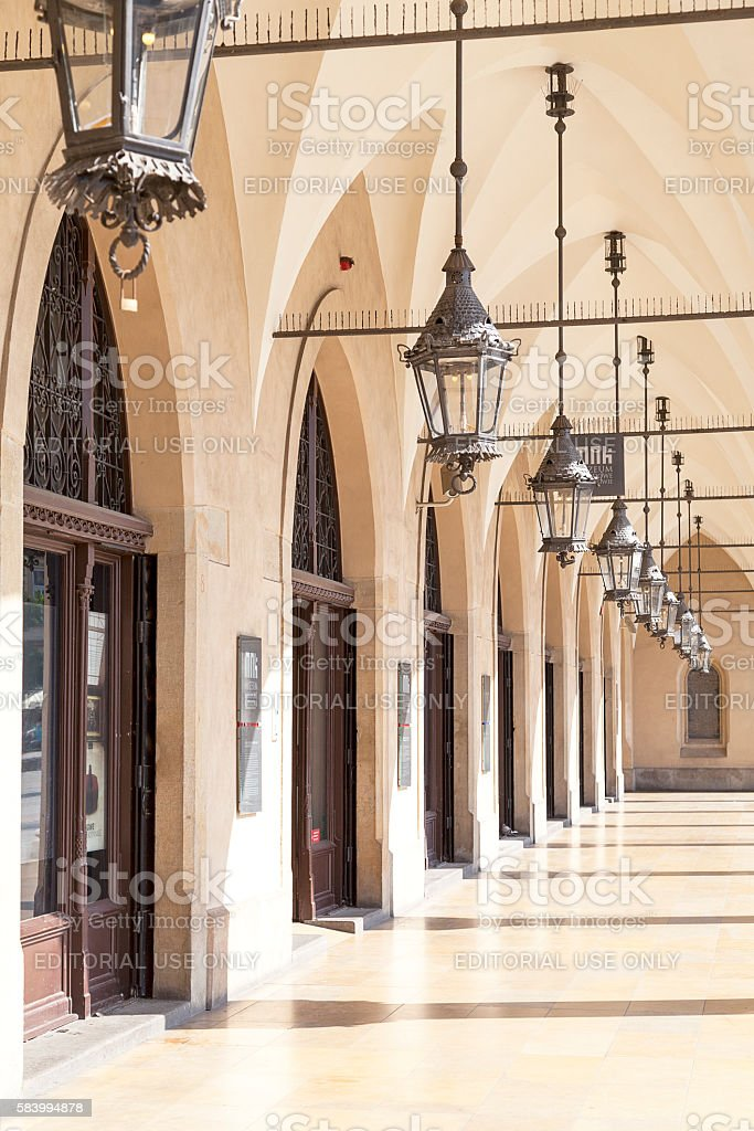 Cloth Hall on Main Market Square , Krakow, Poland stock photo