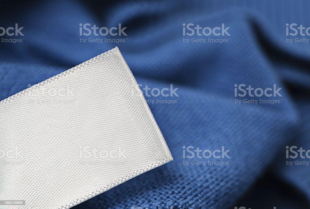 Cloth label laundry care blank mockup stock photo