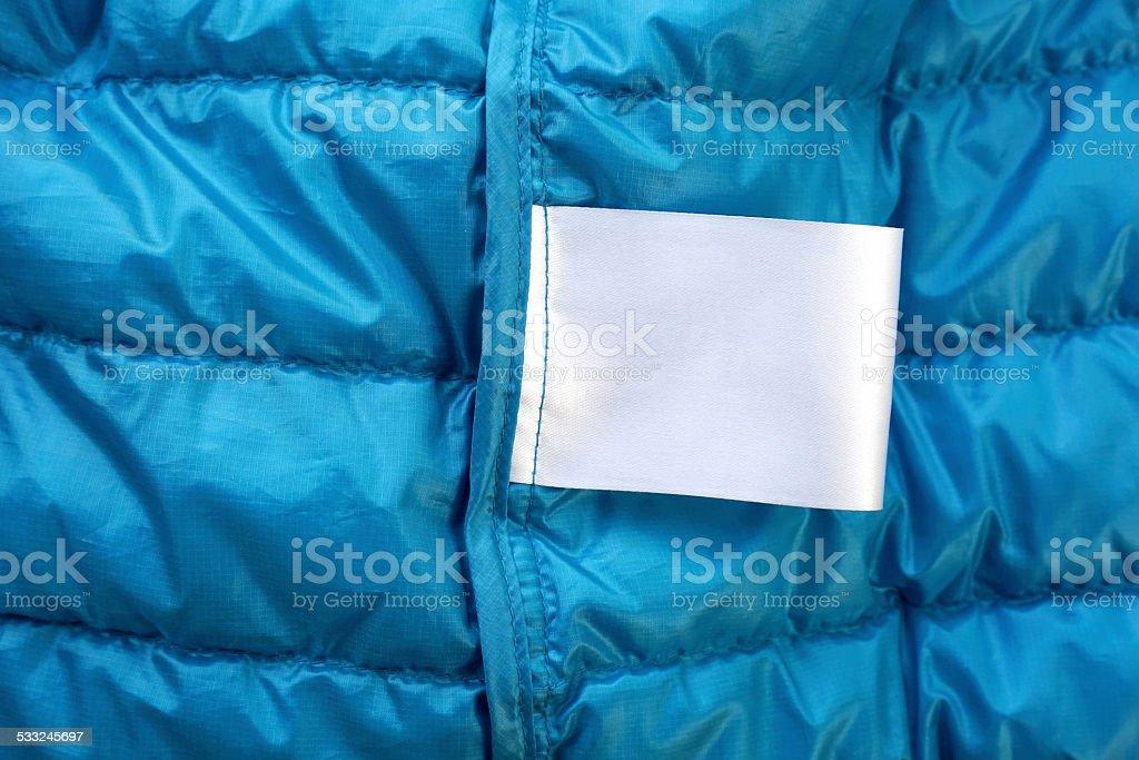 Cloth label laundry care instructions blank mockup stock photo