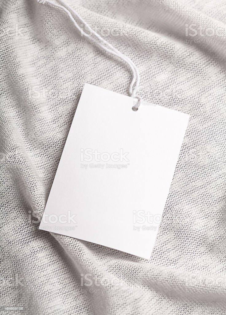 Cloth label tag blank mockup stock photo