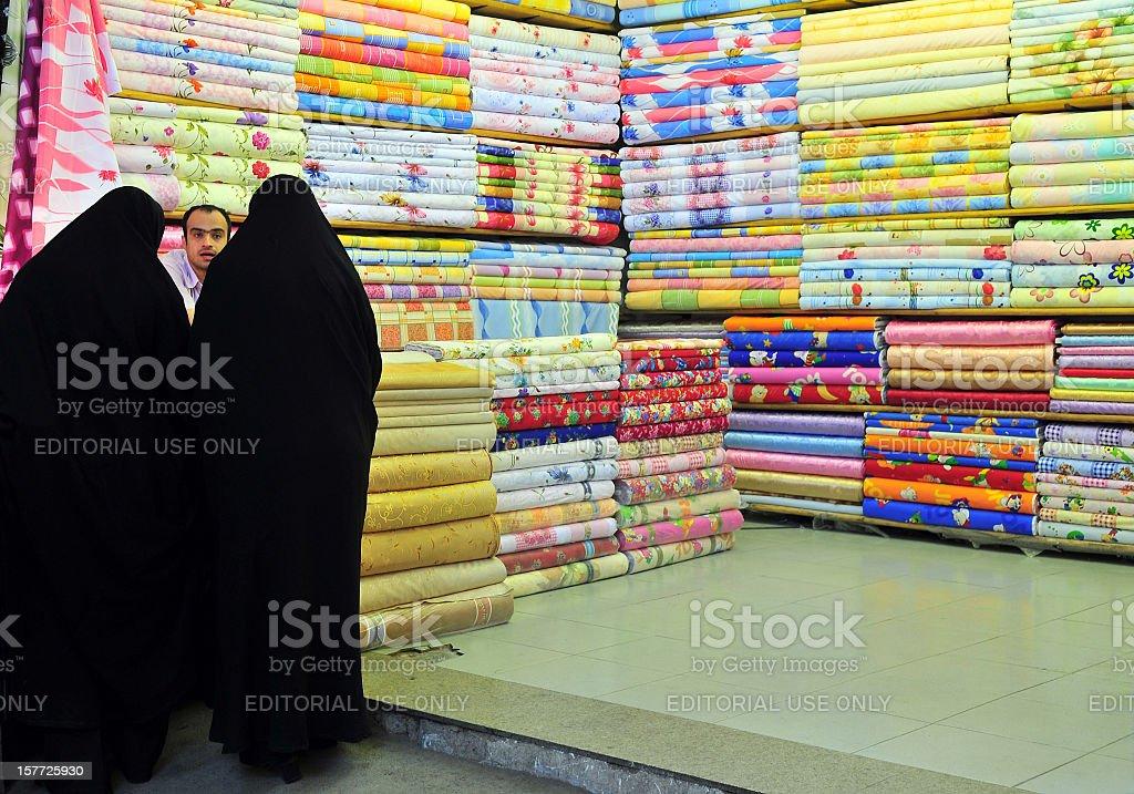 Cloth Market in Tabriz Iran stock photo