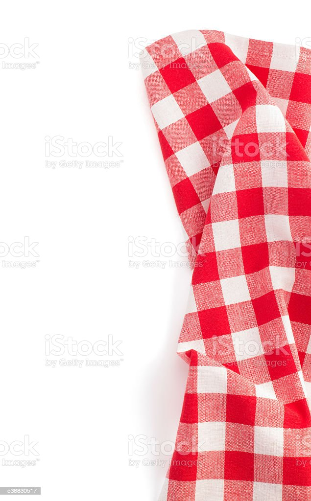 cloth napkin on white background stock photo