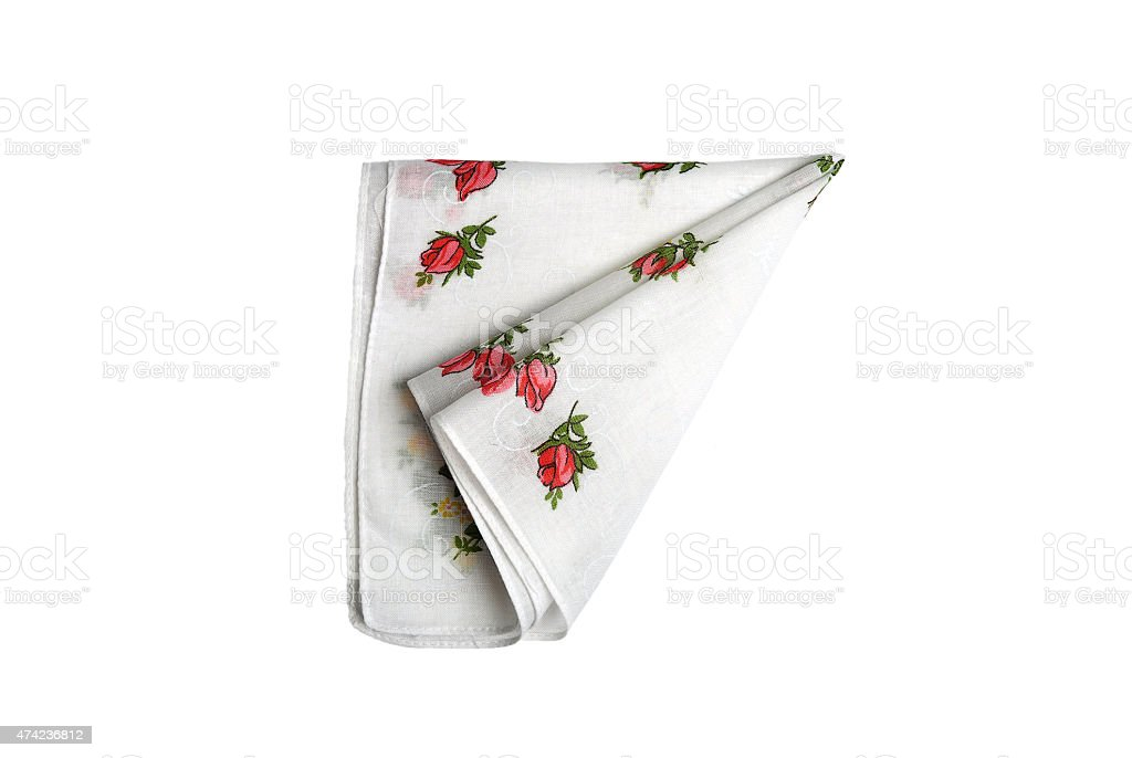 Cloth with flowers stock photo