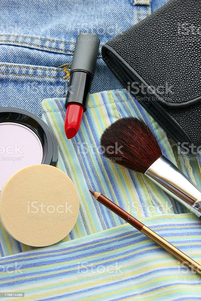 Clothes and Cosmetics stock photo