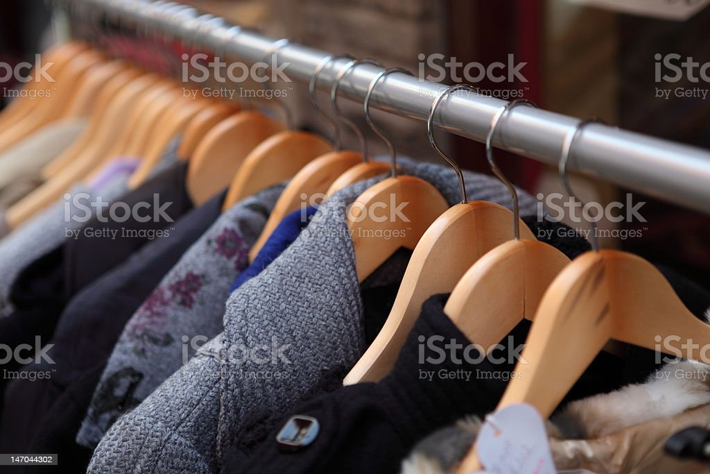Clothes and Racks royalty-free stock photo