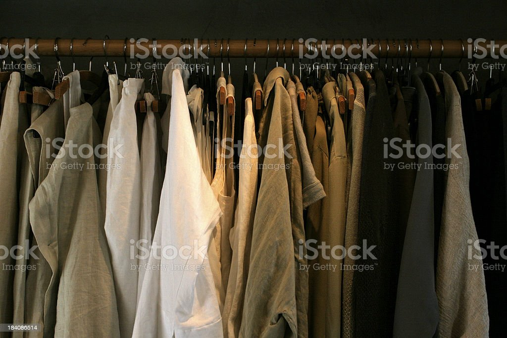 Clothes at a fashion store royalty-free stock photo