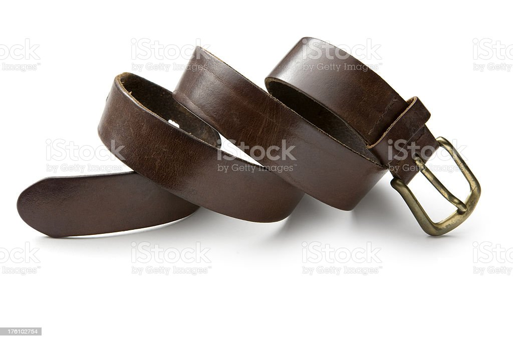 Clothes: Belt royalty-free stock photo