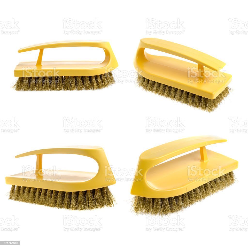 clothes cleaning brush isolated on white background stock photo